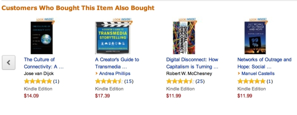Spreadable Media를 구매한 고객들이 구매한 책들: 이러한 목록을 따라다니면 도서관에서 책을 찾는 기쁨을 느낀다