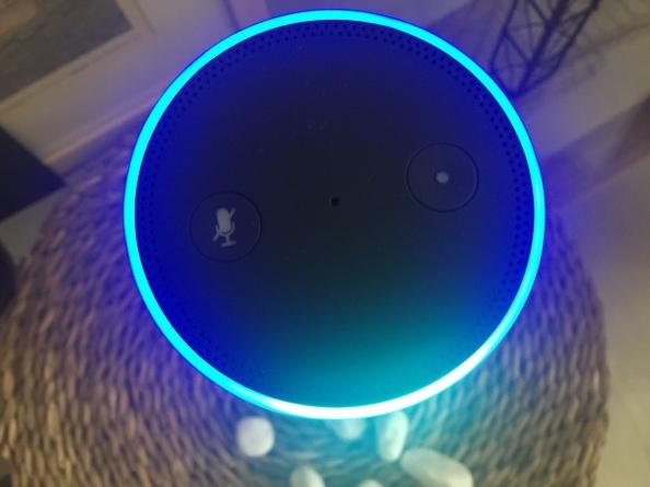 거실에 들어온 알렉사(Alexa). 직접 생활해보기 전에는 막연히 아폰 시리(Siri)나 블루투스 스피커 정도일 것이라고 상상했었다.
